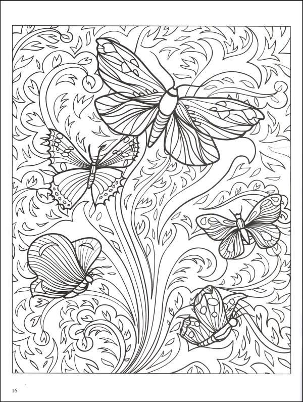 Nice Adult Coloring Pages Printable Butterfly