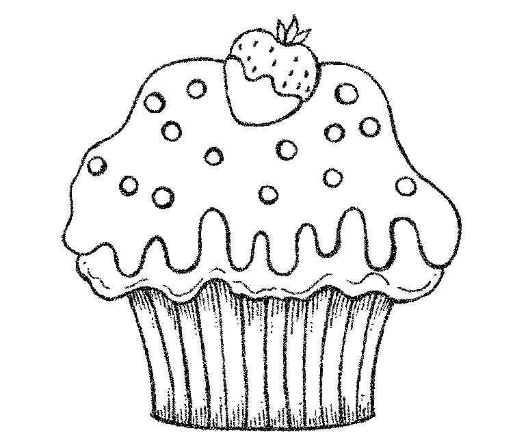 Nice And Cute Cake Coloring Pages
