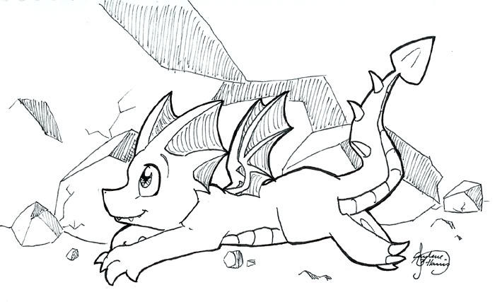 Nice Baby Dragon Coloring Pages