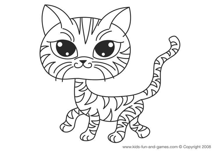 Nice Baby Kitty Coloring Pages