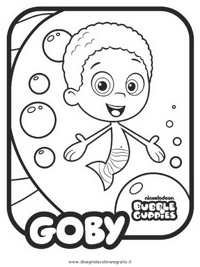 Nice Bubble Guppies Coloring Pages
