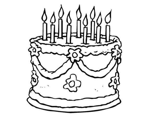 Nice Cake Coloring Pages