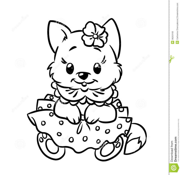 Nice Cat Coloring Pages