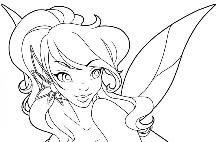 Nice Coloring Pages For Teenagers Difficult Fairy