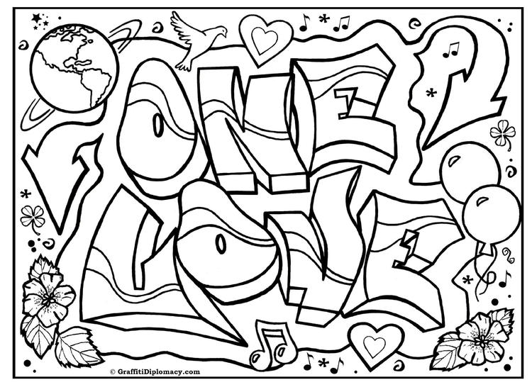 Nice Coloring Pages For Teenagers Graffiti
