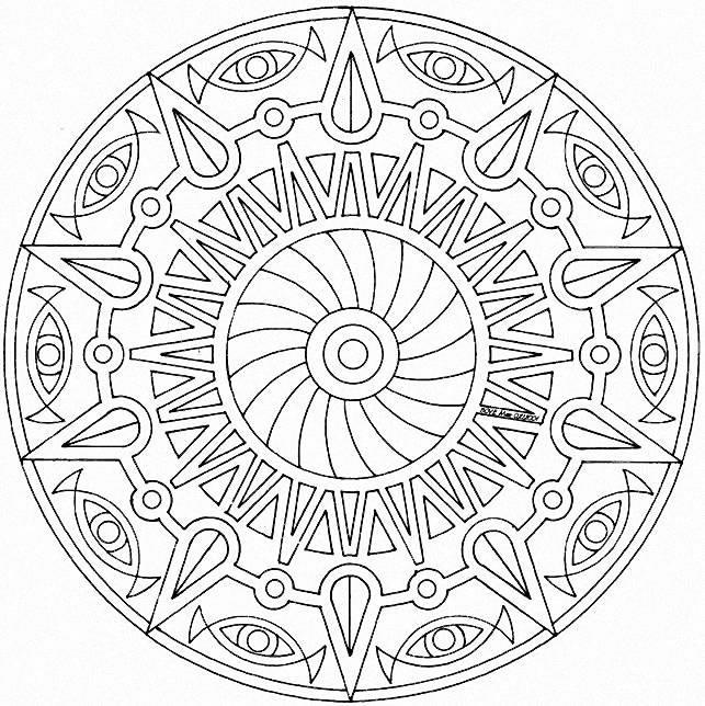 Nice Free Printable Mandala Coloring Pages For Adults