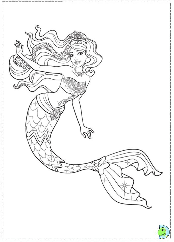 Nice Free Printable Mermaid Coloring Pages For Kids Printable