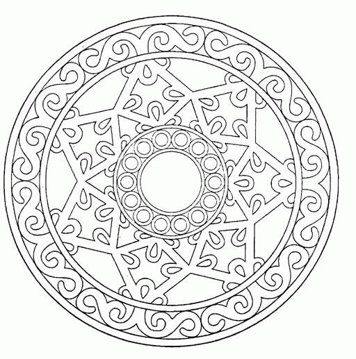 Nice Free Simple Mandala Coloring Pages