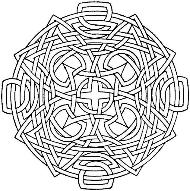 Nice Geometric Pattern Coloring Pages For Adults 1