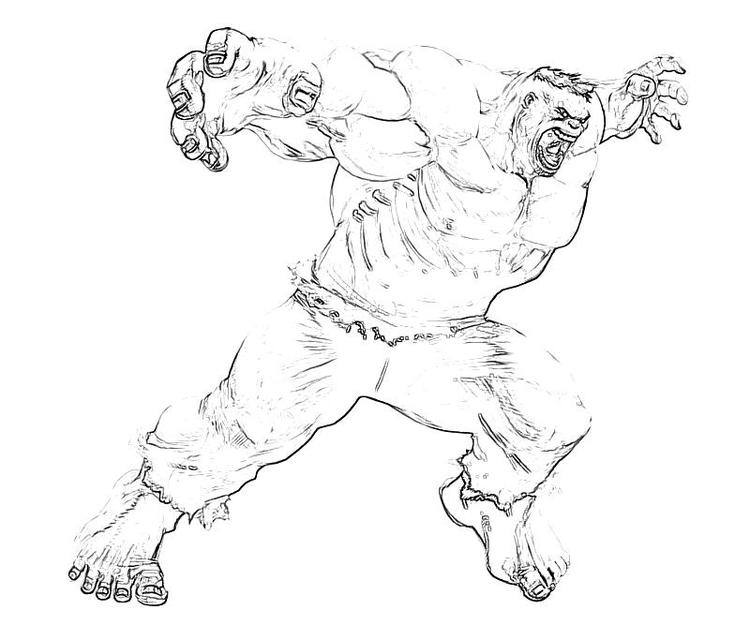 Nice Marvel Coloring Pages Hulk