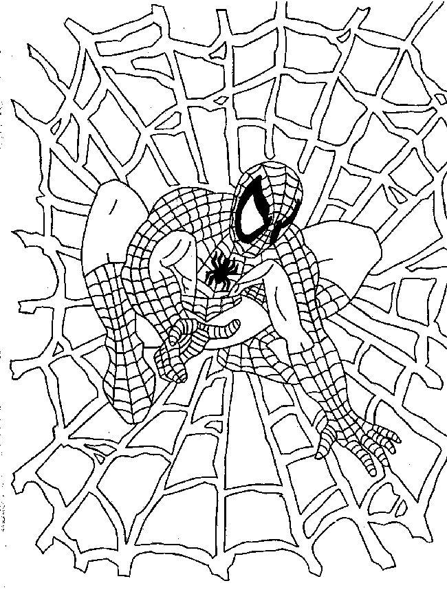 Nice Marvel Coloring Pages Spiderman 1