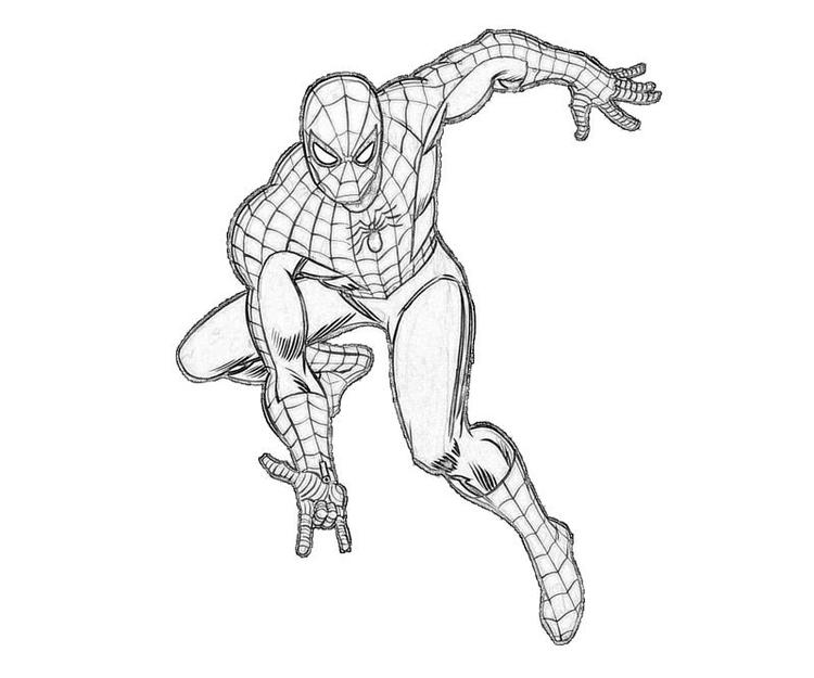 Nice Marvel Coloring Pages Spiderman