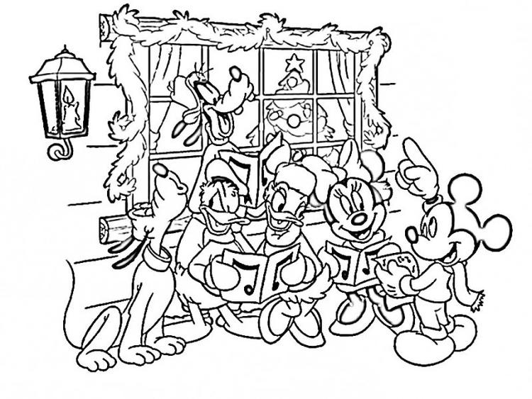 Nice Mickey Mouse Christmas Coloring Pages