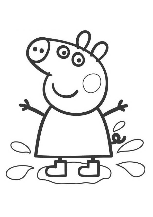 Nice Peppa Pig And Friends Coloring Pages