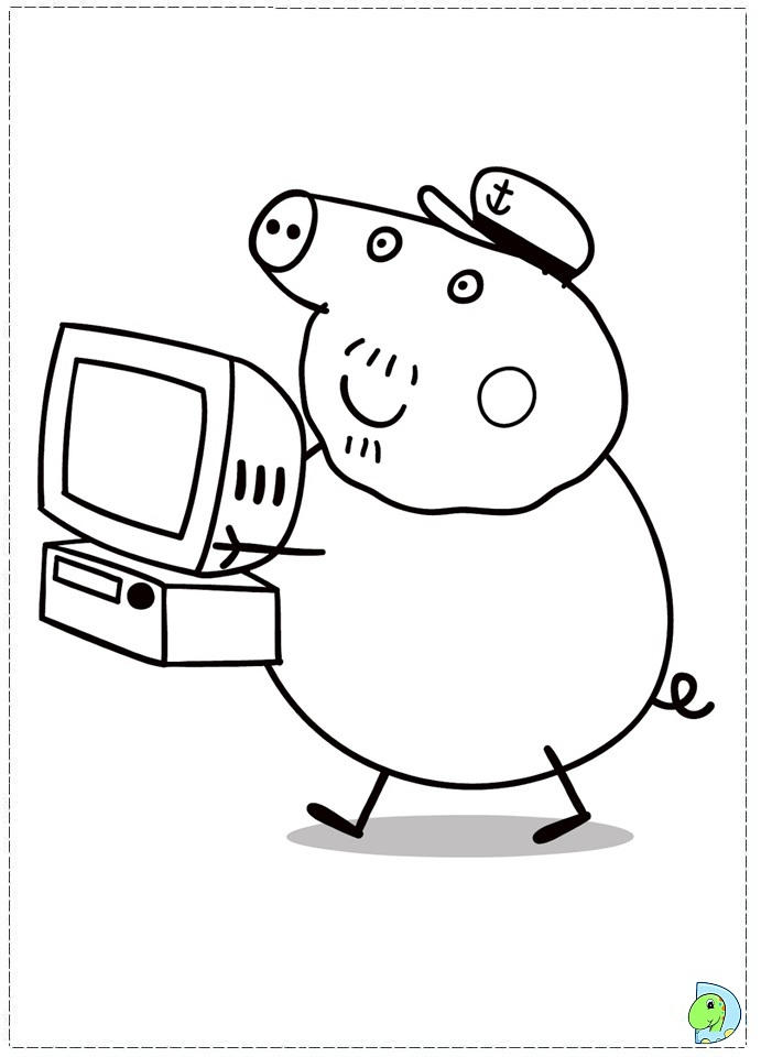 Nice Peppa Pig Birthday Coloring Pages