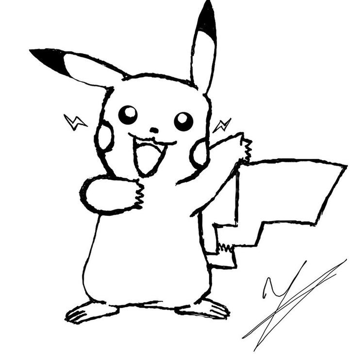 Nice Pokemon Coloring Pages Pikachu