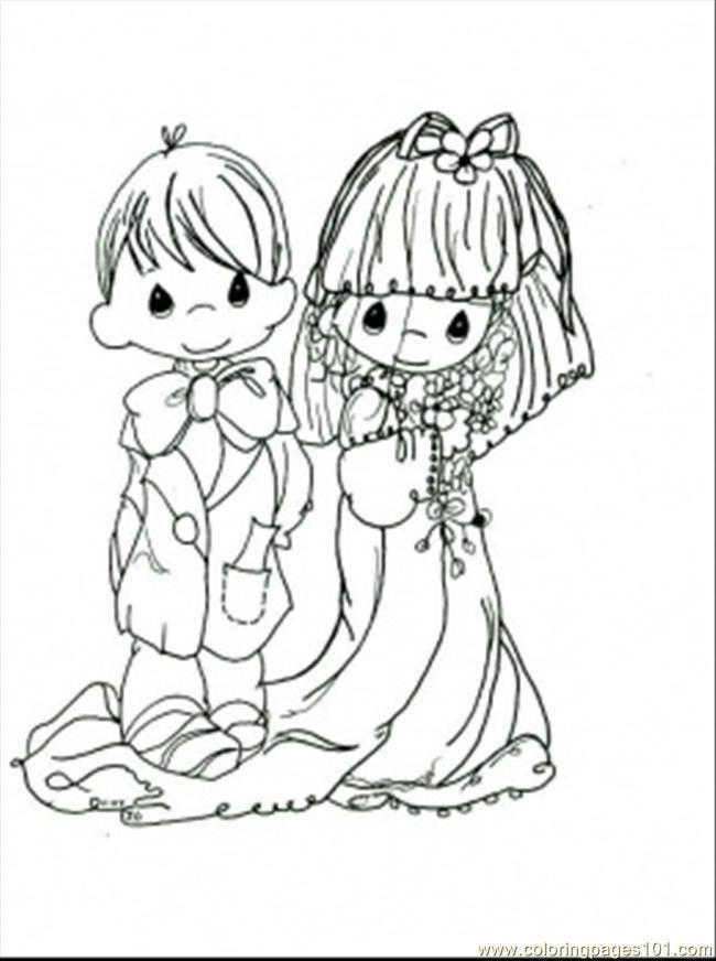 Nice Precious Moments Wedding Coloring Pages