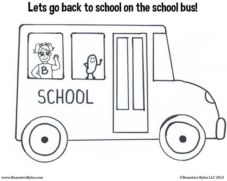 Nice School Bus Coloring Pages 1