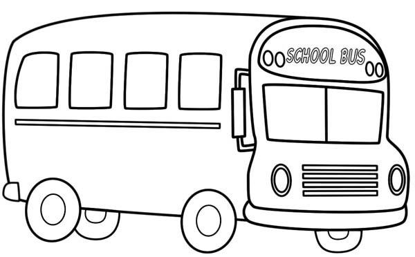 Nice School Bus Coloring Pages