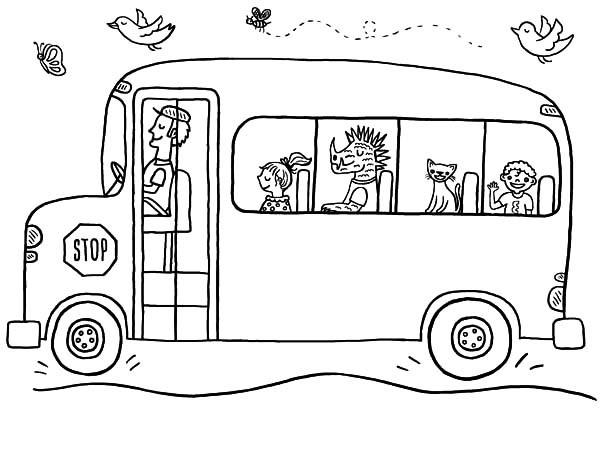 Nice School Bus Driver Coloring Pages