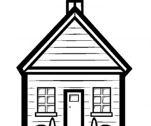 Nice school house coloring pages