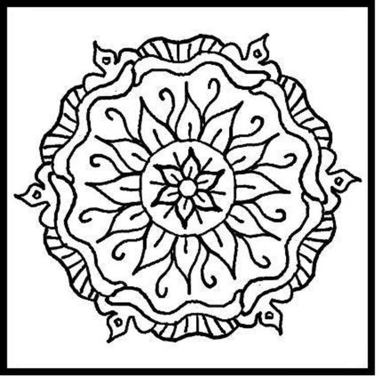 Nice Simple Mosaic Coloring Pages