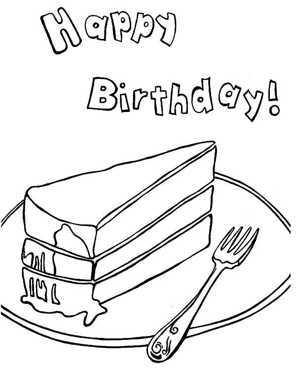 Nice Slice Cake Coloring Pages 1