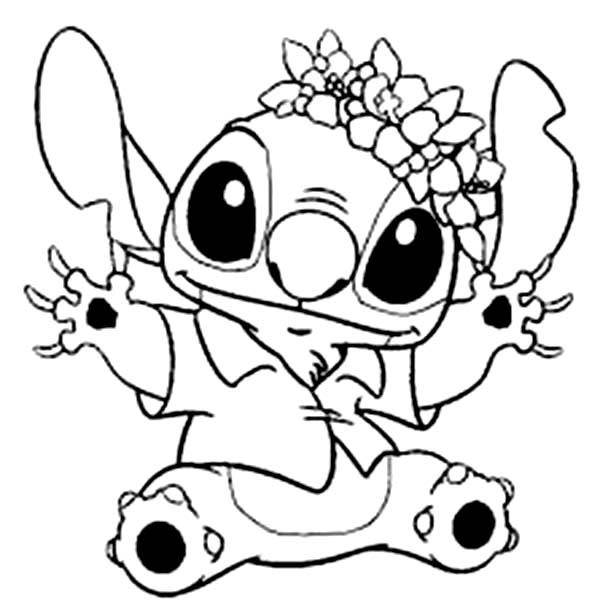 Nice Stitch Coloring Pages