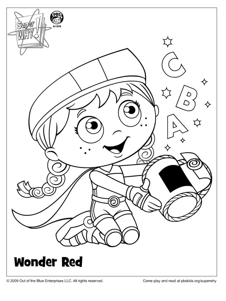 Nice Super Why Coloring Pages