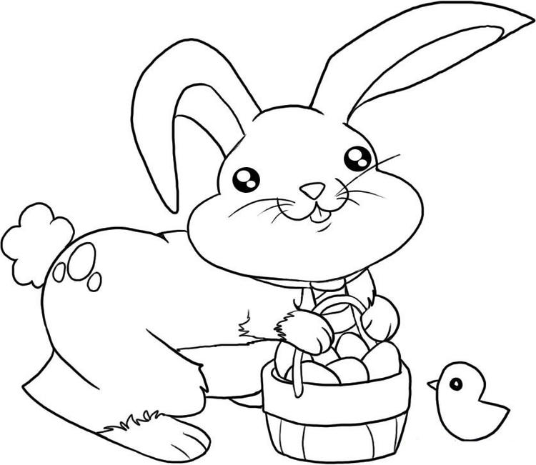Nice Toddler Easter Coloring Pages