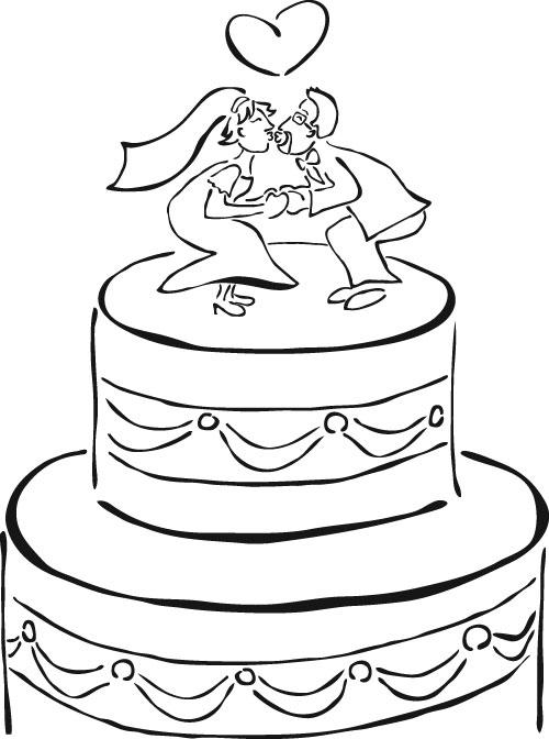 Nice Wedding Cake Coloring Pages