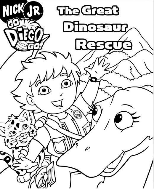 Nick Jr Diego Coloring Pages