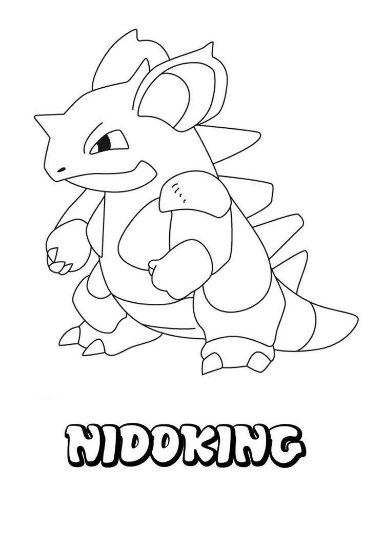 Nidoking Pokemon Coloring Pages