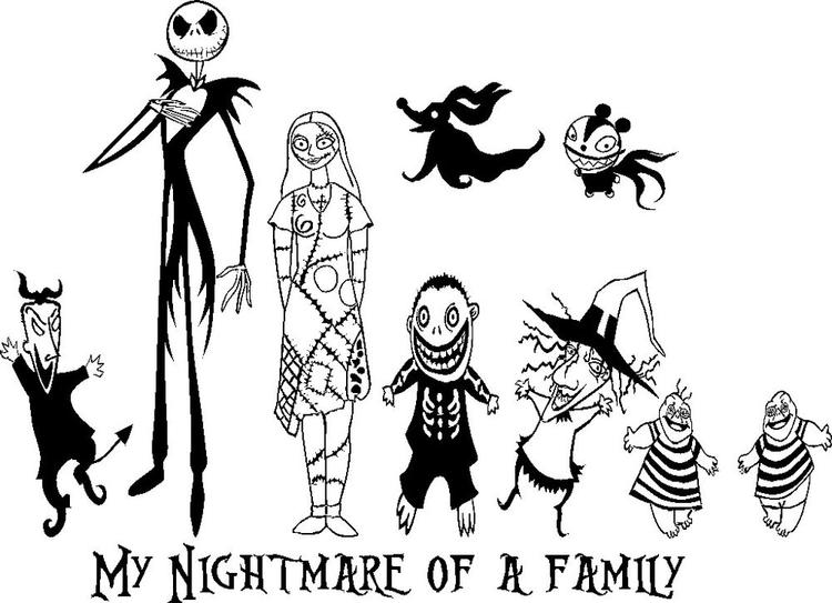 Nightmare Before Christmas Coloring Pages Characters