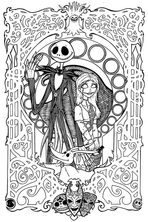 Nightmare Before Christmas Coloring Pages For Adults