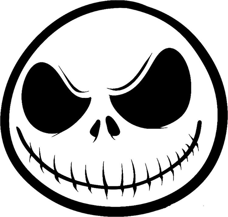 Nightmare Before Christmas Coloring Pages Jack Face