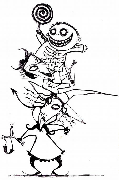 Nightmare Before Christmas Coloring Pages Lock Stock And Barrel