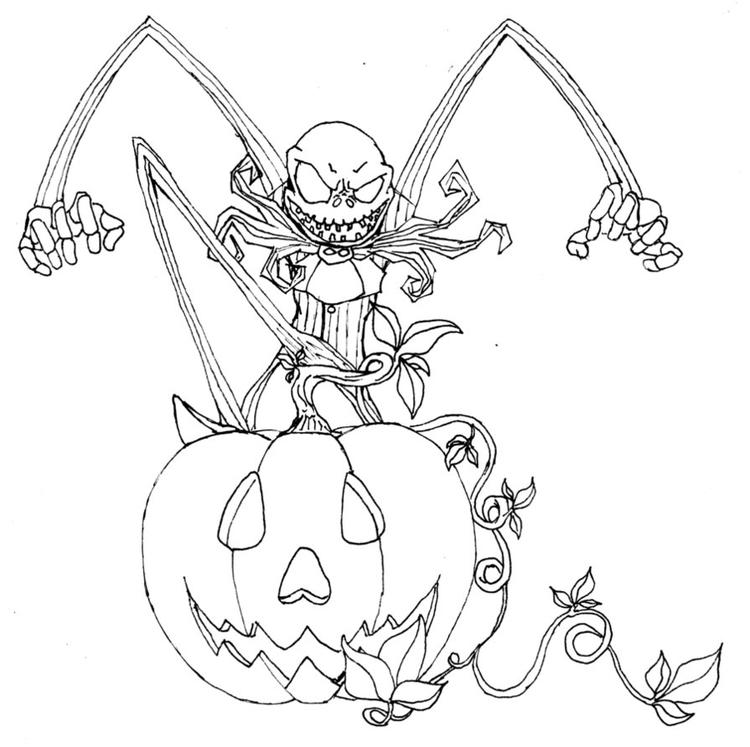 Nightmare Before Christmas Coloring Pages To Print
