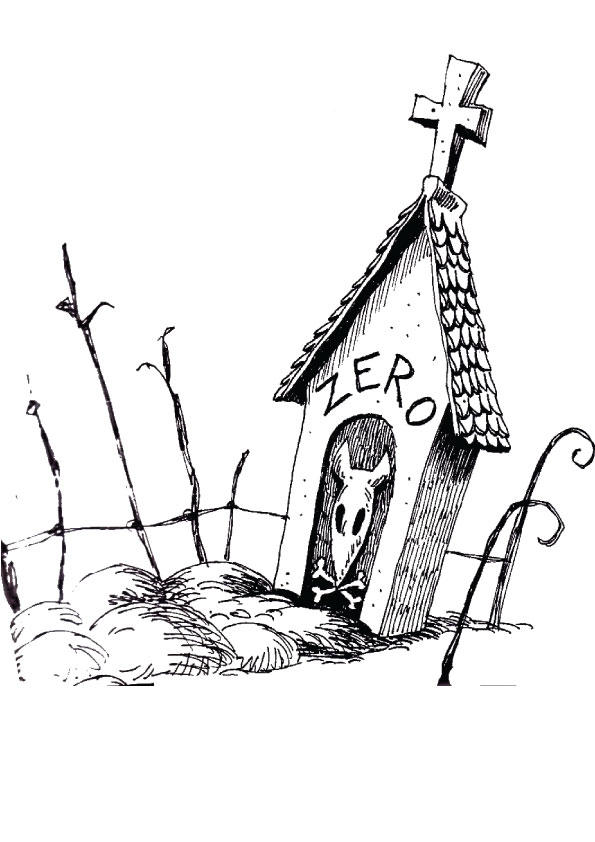 Nightmare Before Christmas Coloring Pages Zero House