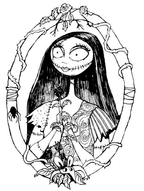 Nightmare Before Christmas Sally Coloring Pages