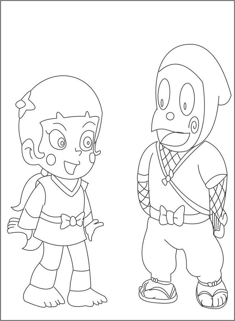 Ninja Hattori Coloring Pages To Print