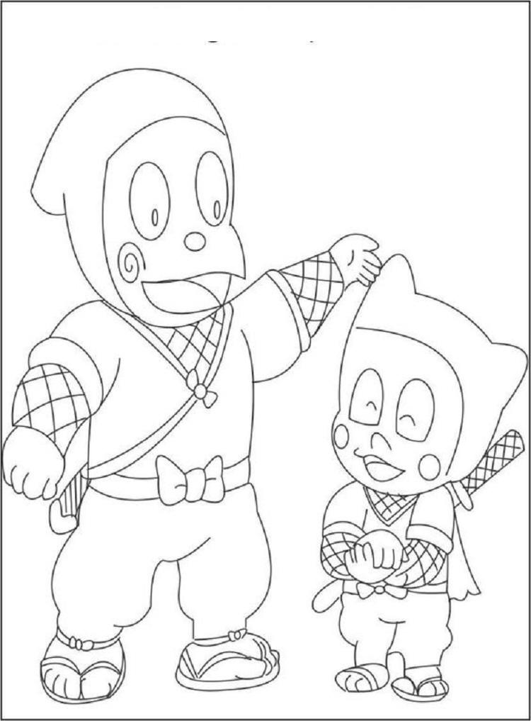 Ninja Hattori Coloring Pages