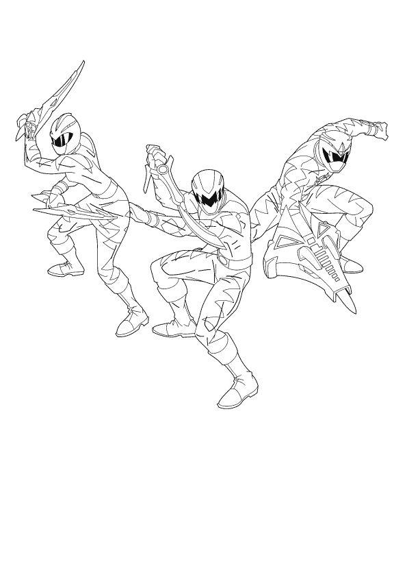 Ninja Storm Power Rangers Coloring Pages For Boys