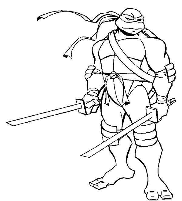 Ninja Turtle Coloring Pages Leonardo
