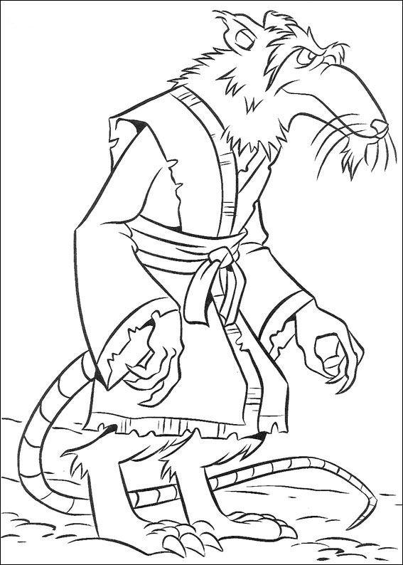 Ninja Turtle Coloring Pages Master Splinter