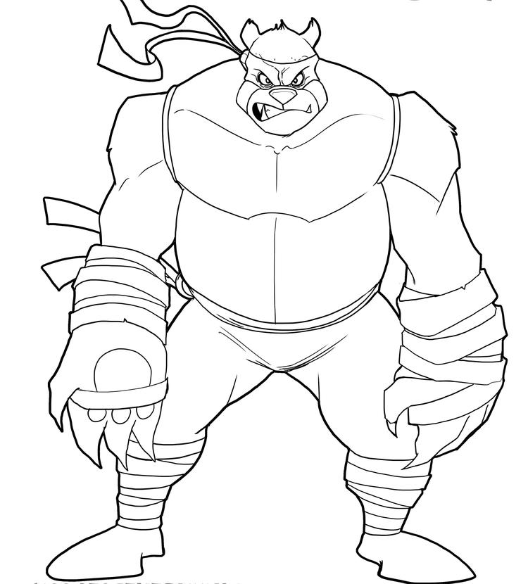 Ninja Turtle Coloring Pages Villains