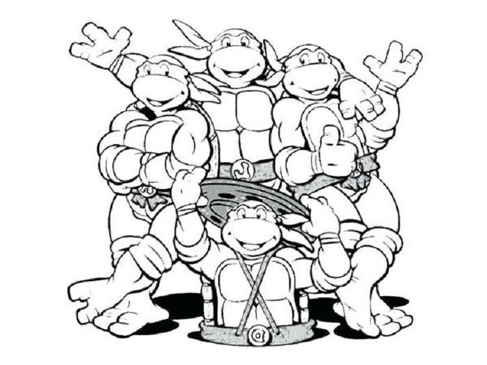 Ninja Turtles Coloring Pages To Downlod