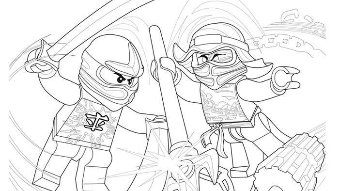 Ninjago coloring pages airjitzu