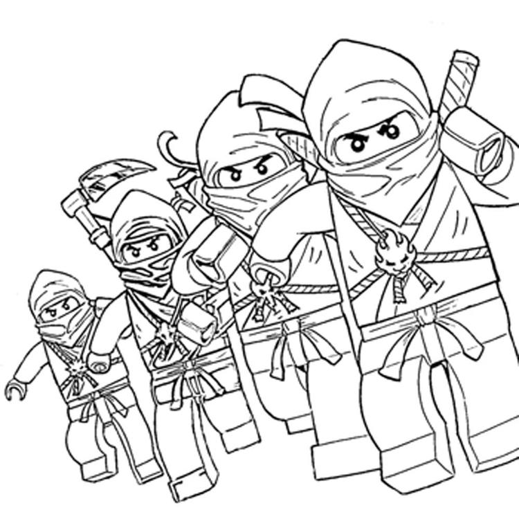 Ninjago Coloring Pages For Boys