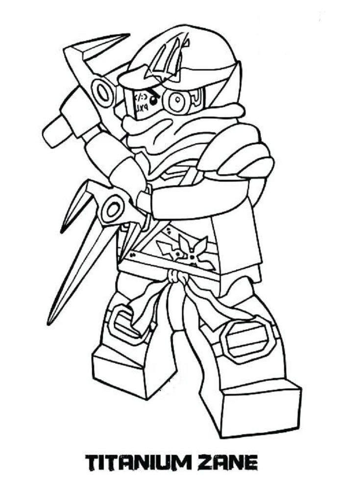 Ninjago Coloring Pages Titanium